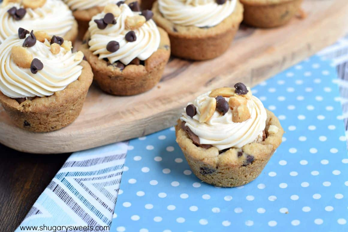 Snickers Cookie Cups Shugary Sweets