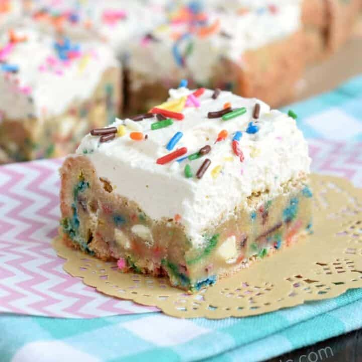 Frosted Funfetti Blondies