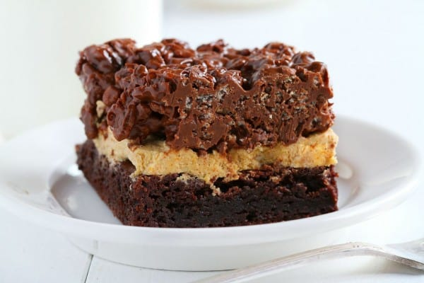 Krispy Pumpkin Brownies from iambaker.net