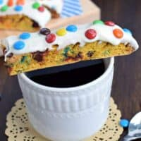 Pumpkin M&M's Biscotti