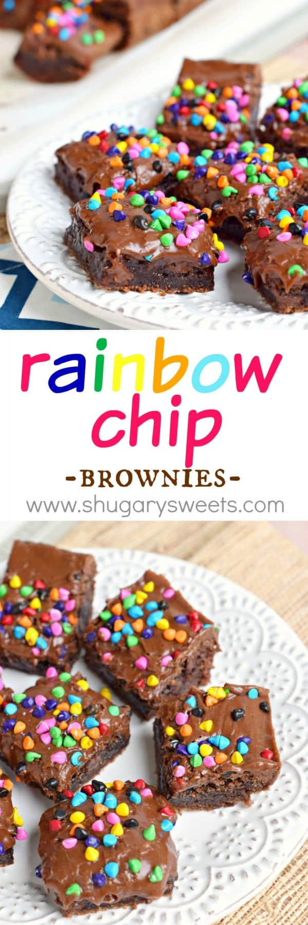 These Rainbow Chip Brownies are made using the best homemade buttermilk brownie recipe! Move over Cosmic Brownies from Little Debbie...these are too delicious to compare!