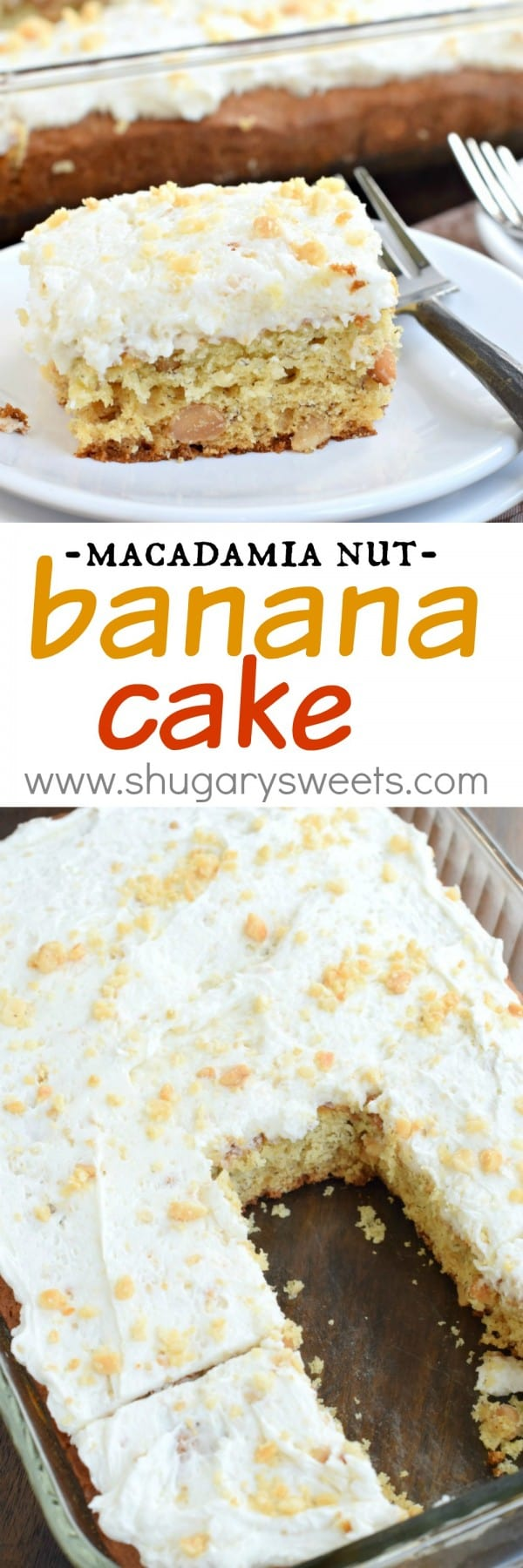 Looking for a unique snack cake recipe? This Banana Macadamia Nut Cake is a great treat to enjoy in the afternoon with your cup of coffee!