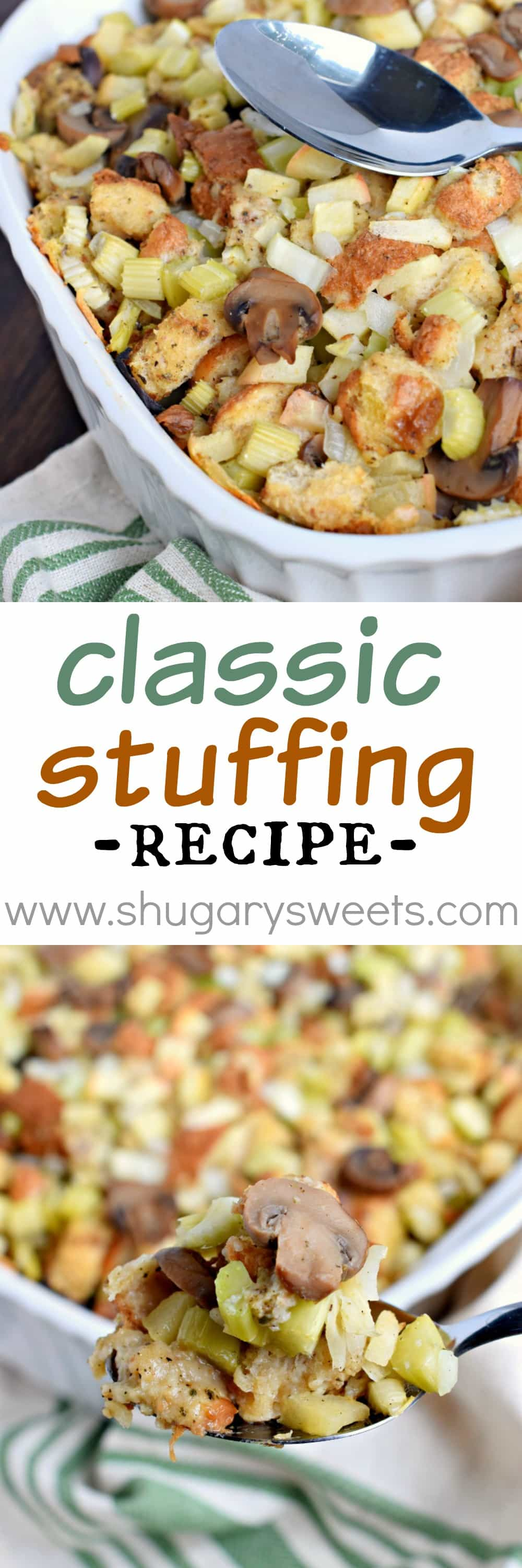 What is a recipe for classic bread stuffing?