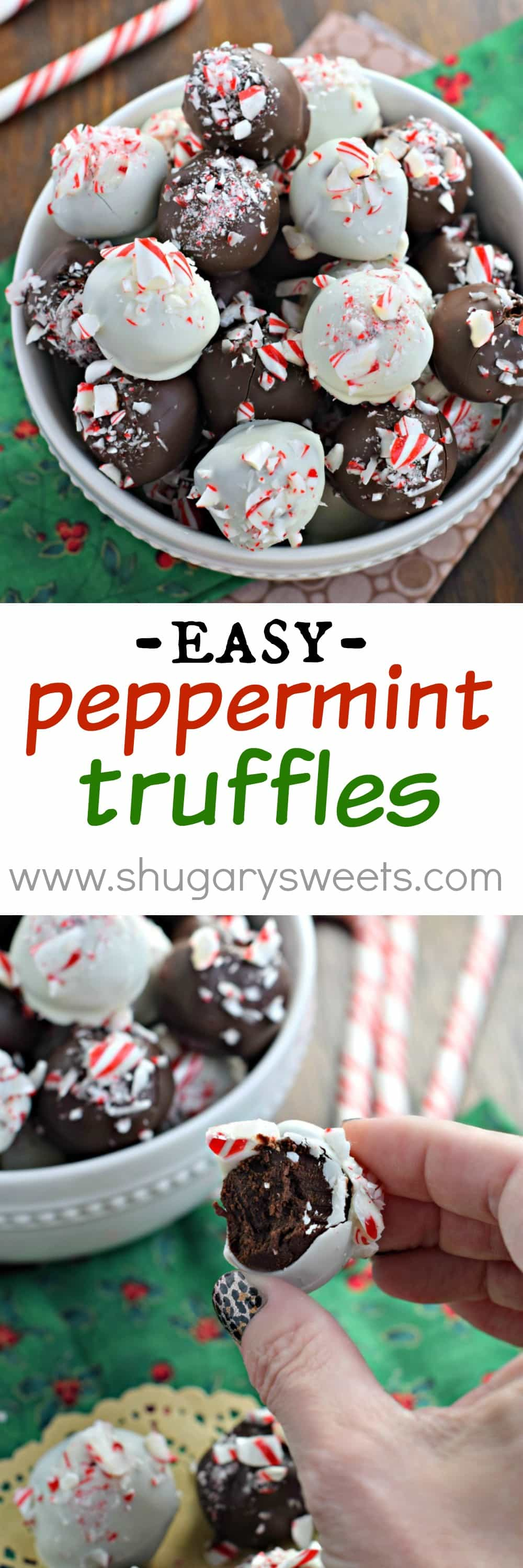 Peppermint Truffles - Shugary Sweets