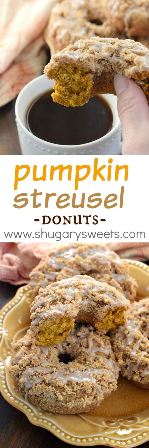 Pumpkin Streusel Donuts: baked and delicious, the perfect fall breakfast!