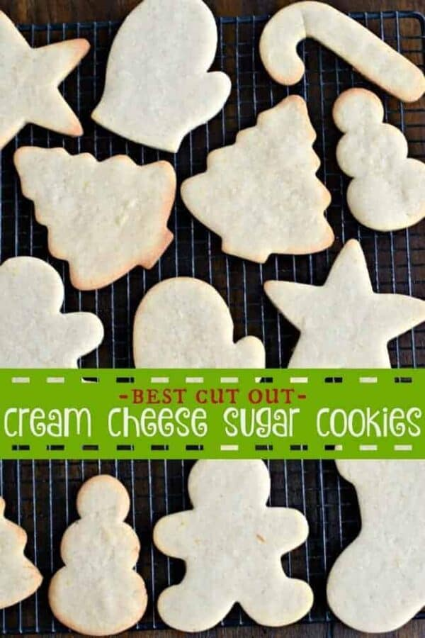 Looking for the BEST sugar cookie cut out recipe? These Cream Cheese Sugar Cookies are so flavorful and they always hold their shape. Don't forget to add the delicious Vanilla Bean Frosting too!