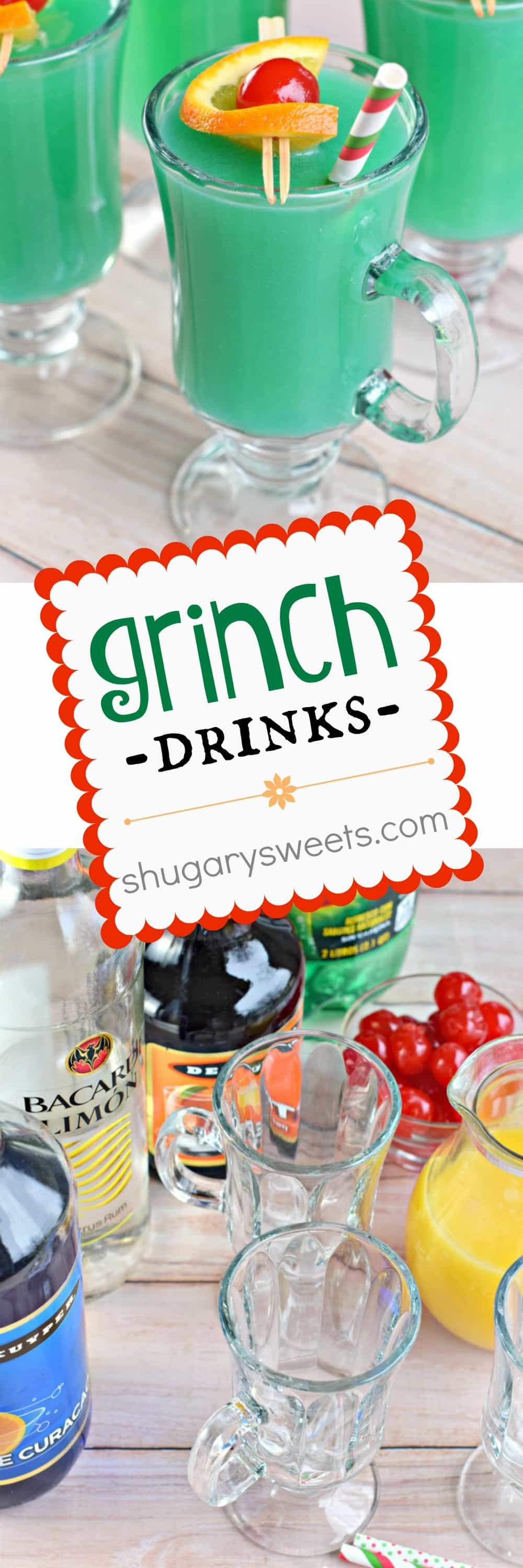 See the recipe Grinch Drink on YouTube