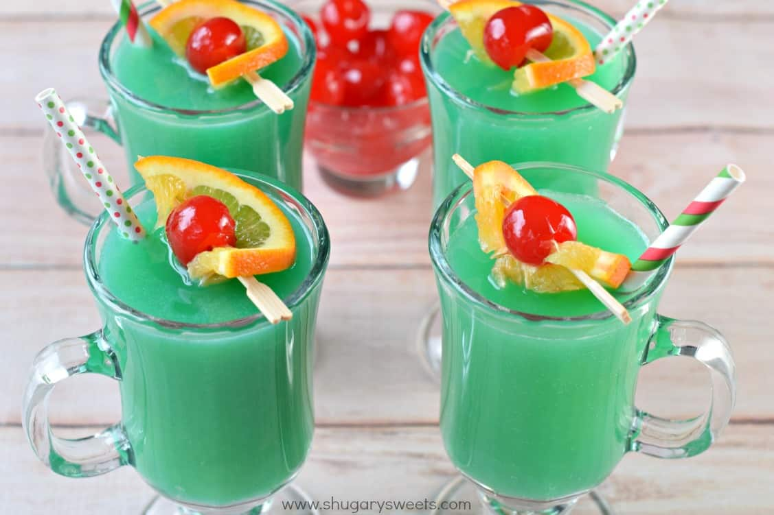 Grinch drink shugary sweets for Fun alcoholic drink recipes