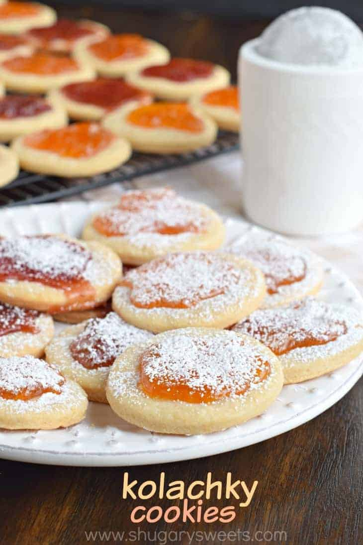 Cream Cheese based cookie topped with sweet preserves makes these Kolachky cookies irresistible!