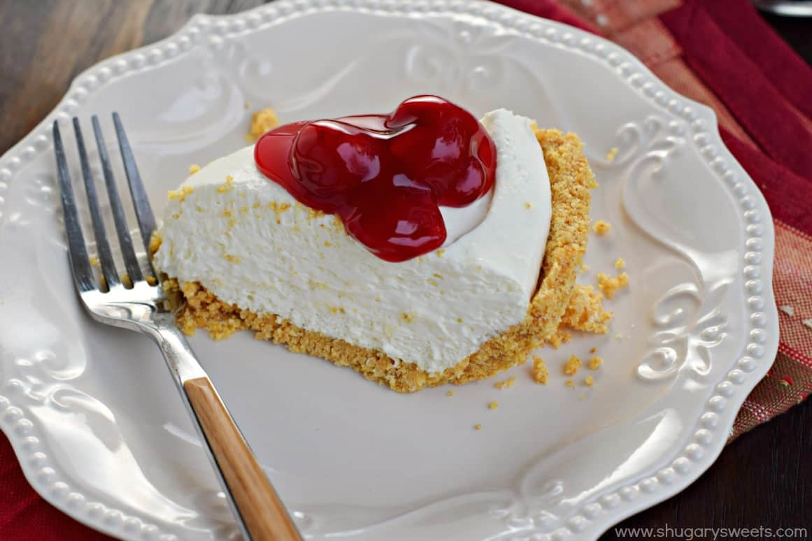 Easy to make, this No Bake Cheesecake is perfect any time of year. For ...