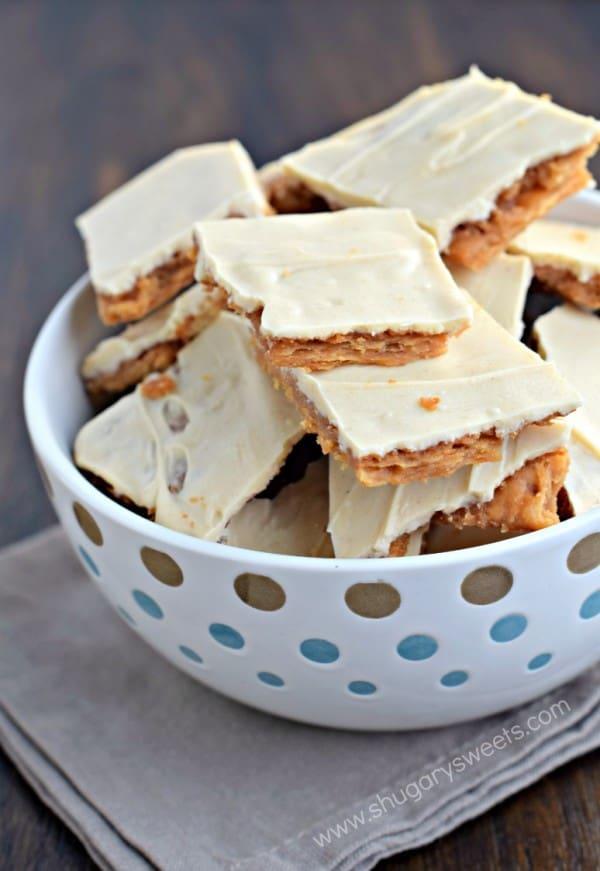 Peanut Butter Cracker Toffee