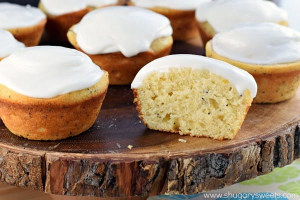 Lemon Poppy Seed Muffins recipe packed with citrus flavor! Soft on the inside with a sweet lemon glaze!