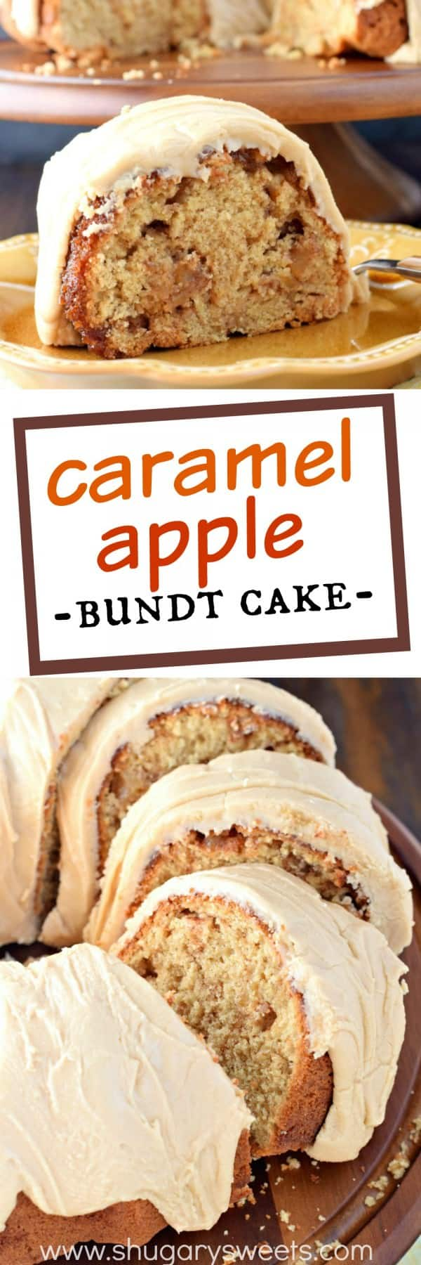 Apple Spice Bundt Cake With Caramel Frosting
