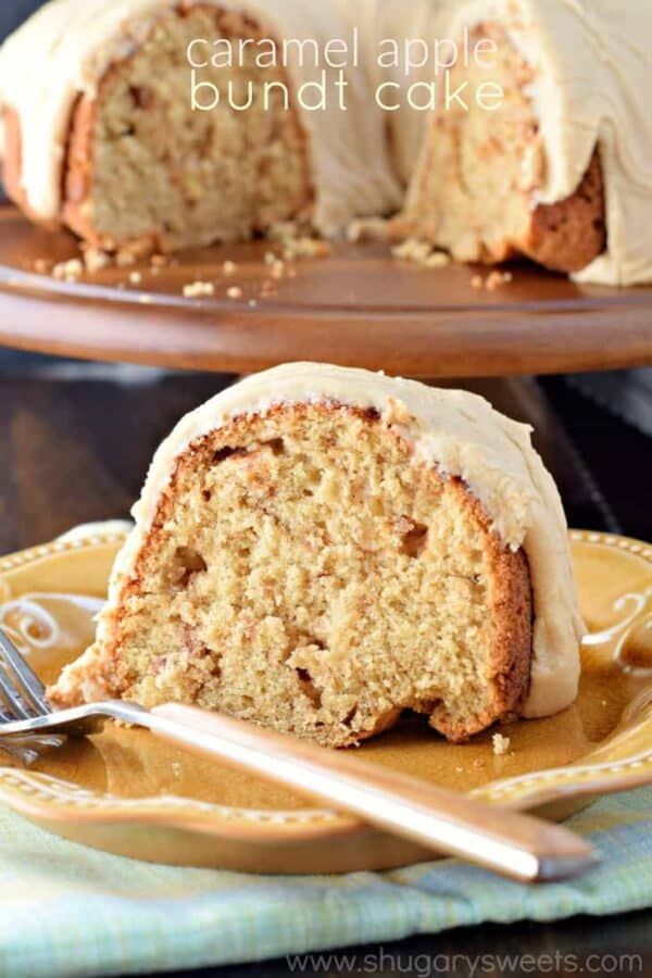 Spiced Bundt Cake With Apple Caramel Sauce Recipe — Dishmaps
