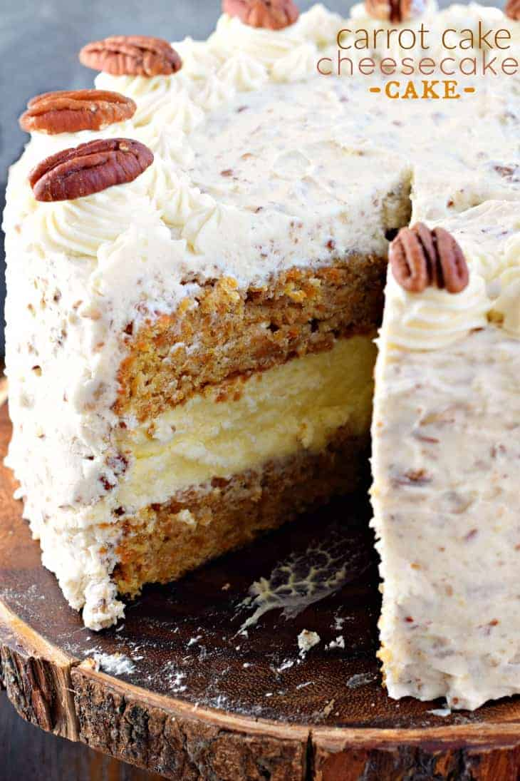 Carrot Cake Cheesecake Cake Recipe