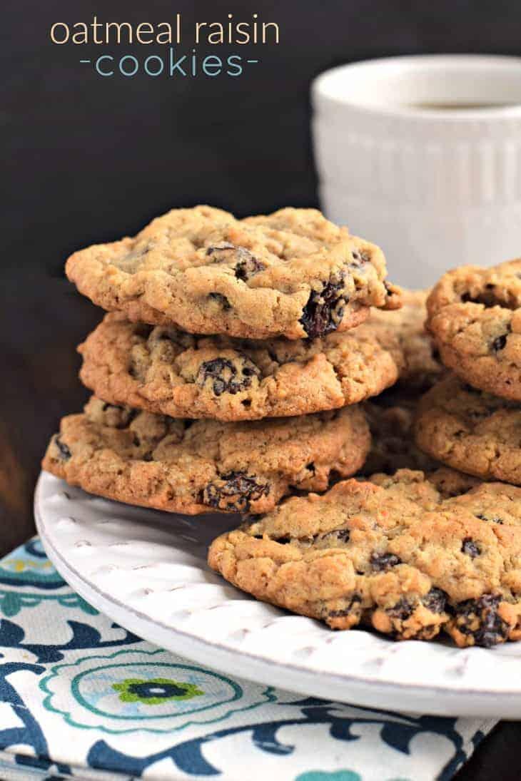 Oatmeal Raisin Cookies - Shugary Sweets