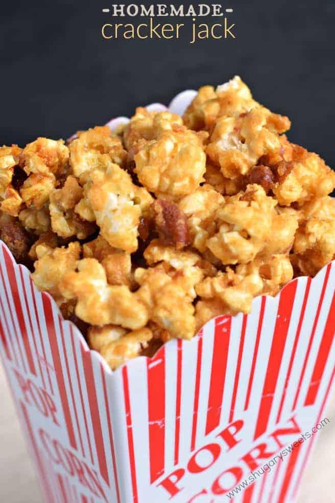Homemade Cracker Jack - Shugary Sweets