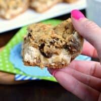 Oatmeal Raisin Cookie Cheesecake Bars