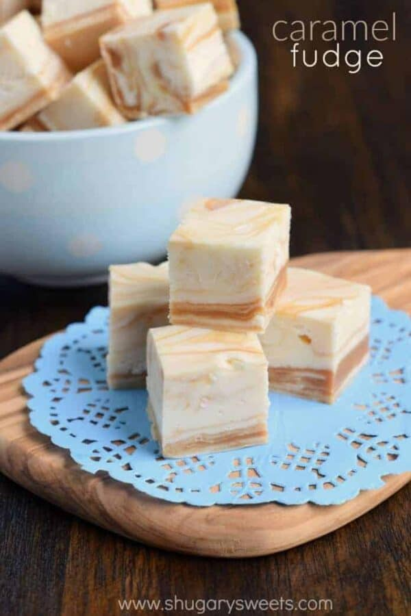 The Best White Chocolate Caramel Swirled Fudge Recipe