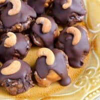 Blueberry Cashew Caramel Clusters with DOVE Chocolate