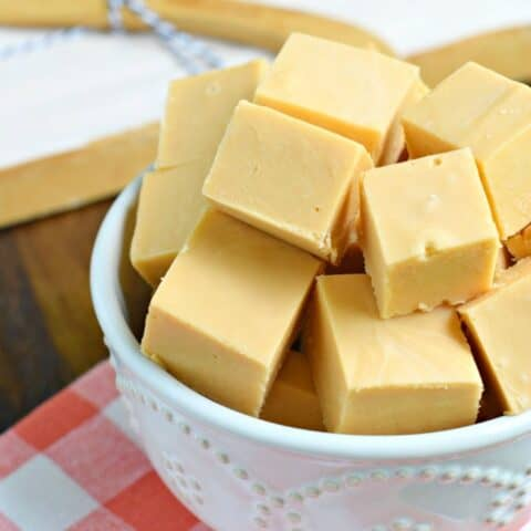 Creamy, melt-in-your-mouth Butterscotch Fudge is an easy recipe to make any time of year! No candy thermometer needed to make this perfect homemade fudge recipe.
