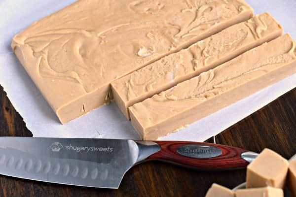One bite of this smooth, creamy Maple Peanut Butter Fudge and you'll be taken back to your favorite vacation spot! Easy to make with no candy thermometer needed!