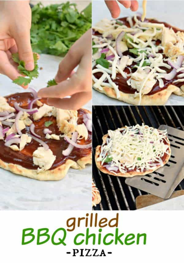 Make your next pizza on the grill with this delicious BBQ Chicken Pizza recipe (includes the perfect crust recipe too)!