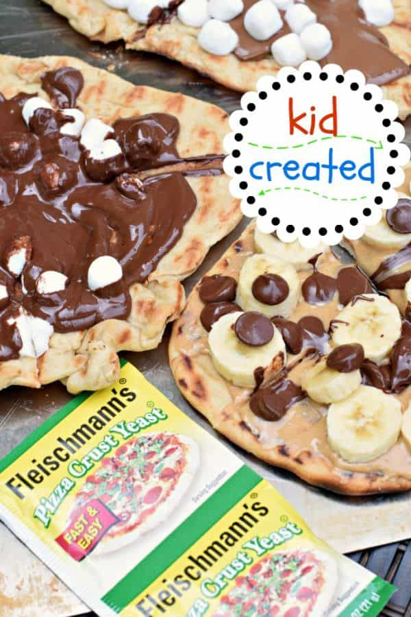 Kid tested and Kid created...these DESSERT Pizzas get two thumbs up from everyone! Made on the grill for little to no clean up!