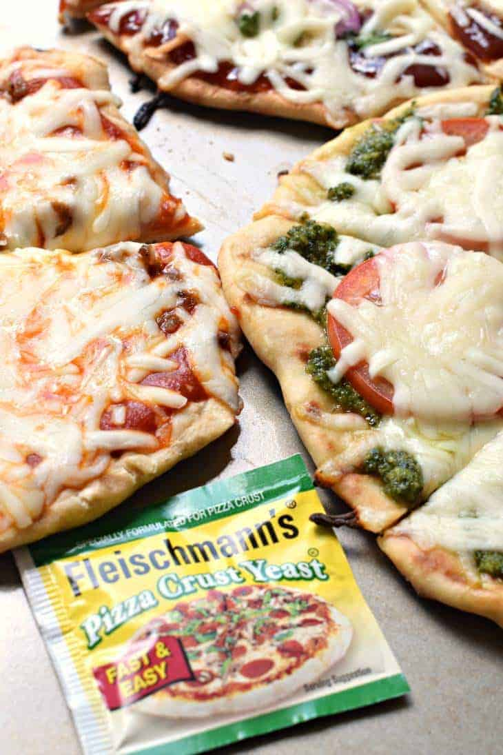 Grilled pizza with homemade pizza crust.