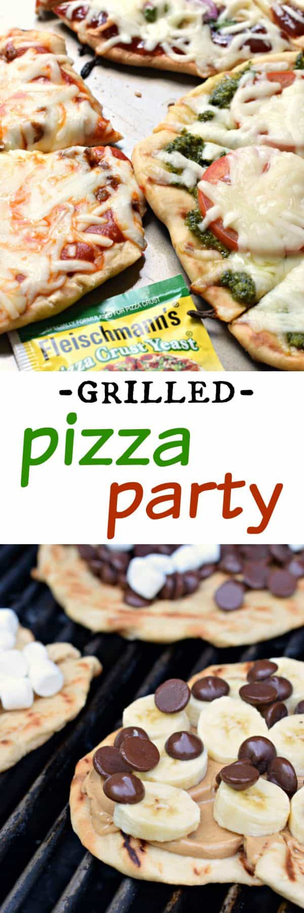 I've got some delicious Grilled Pizza Party Ideas for your next get together. From the homemade pizza crust to all the toppings, I've got you covered with everything sweet and savory!