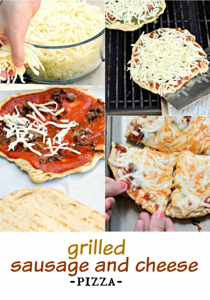 Make your next pizza on the grill with this delicious Sausage and Cheese Pizza recipe (includes the perfect crust recipe too)! Add your favorite toppings if you choose!