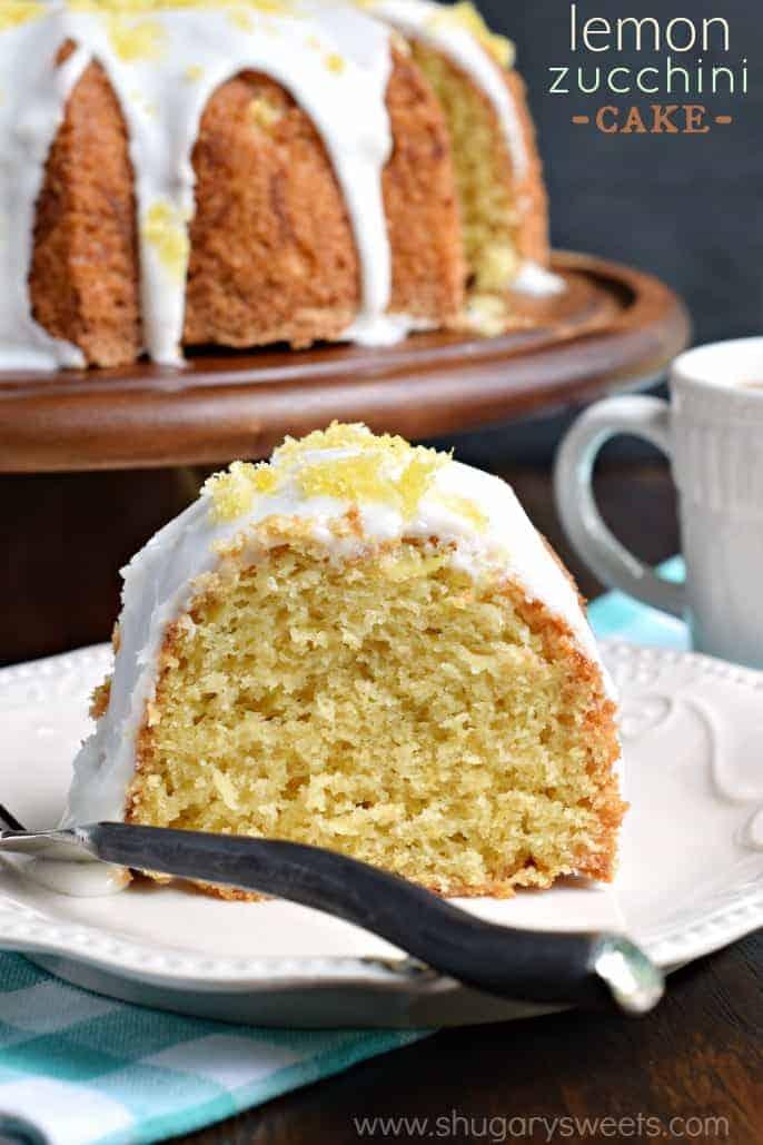 Lemon Zucchini Cake - Shugary Sweets