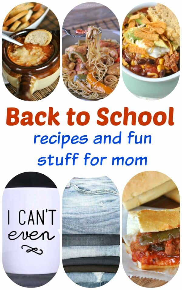 Let's talk BACK TO SCHOOL. Delicious weeknight meal ideas that are made in under 30 minutes, crock pot recipes, and fun stuff for mom!
