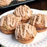 Cinnamon Streusel Zucchini Muffins