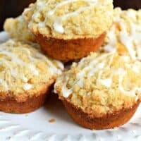 Lemon Poppy Seed Muffins with Zucchini and a delicious Crumb topping!