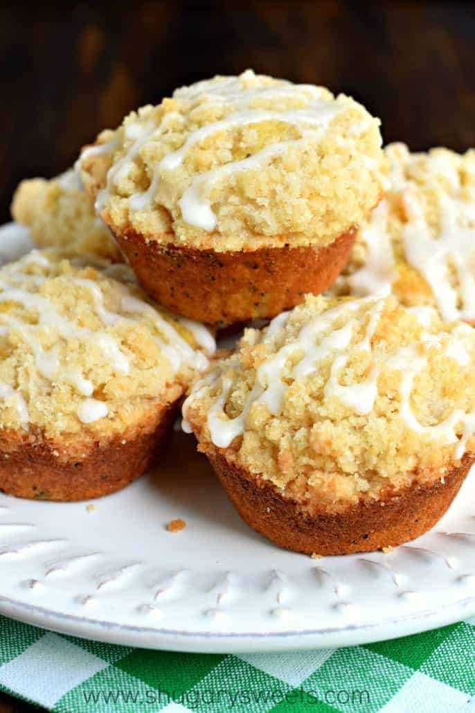 Lemon Poppy Seed Muffins with Zucchini and a delicious ...
