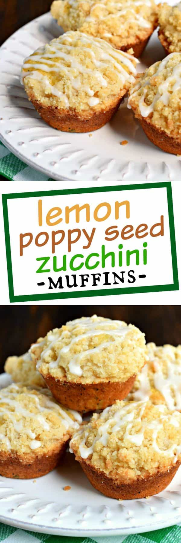 Use up some of the summer zucchini with these incredibly moist and delicious Lemon Poppy Seed Zucchini Muffins. The crumb topping and sweet lemon glaze add so much texture and flavor!
