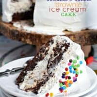 Cookies and Cream Brownie Ice Cream Cake