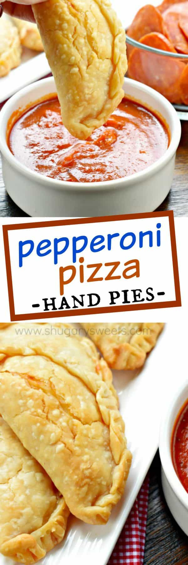 Pepperoni Pizza Hand Pies - Shugary Sweets