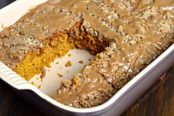 Pumpkin Streusel Coffee Cake with Maple Glaze is the perfect fall treat. Whether for breakfast or dessert, indulge in this delicious recipe today!