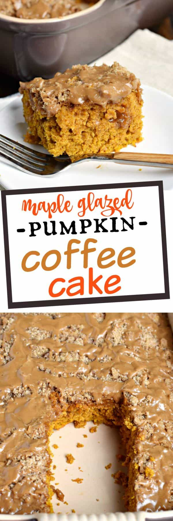 Pumpkin Streusel Coffee Cake with Maple Glaze is the perfect..