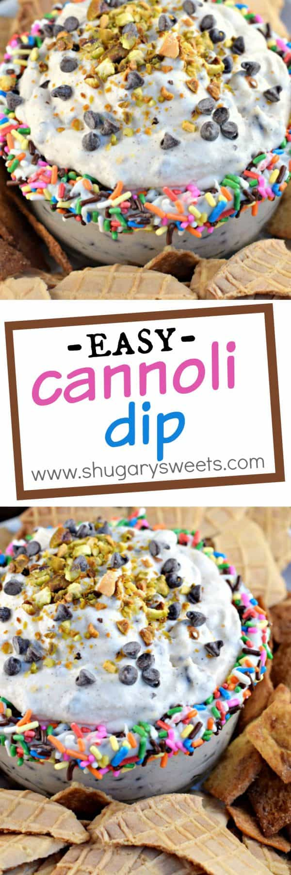 This easy, sweet Cannoli Dip recipe tastes like the delicious filling of your favorite Italian dessert!