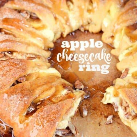 Apple Cheesecake Ring