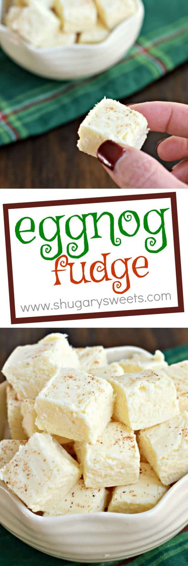 Eggnog Fudge is a better choice for your family cookie exchange. You'll stand out because it's awesome, and it's NOT a cookie!