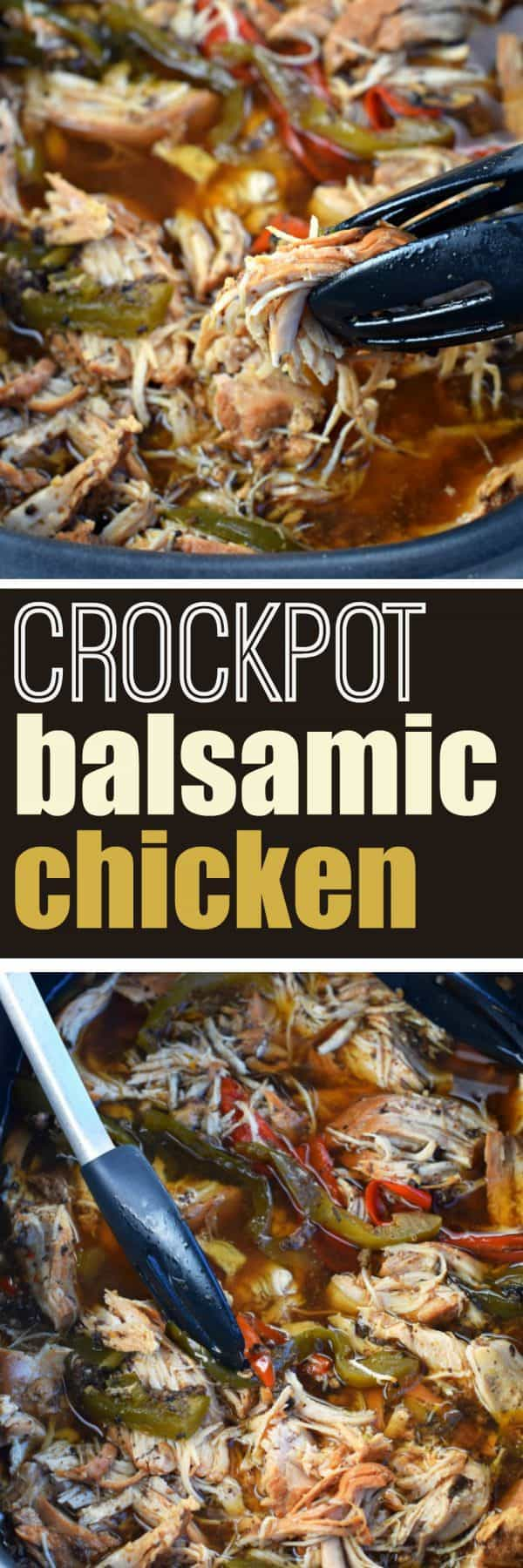 With only a few minutes prep time, you can have this Slow Cooker Balsamic Chicken for dinner tonight! Pull out your crockpot, fix it and forget it!