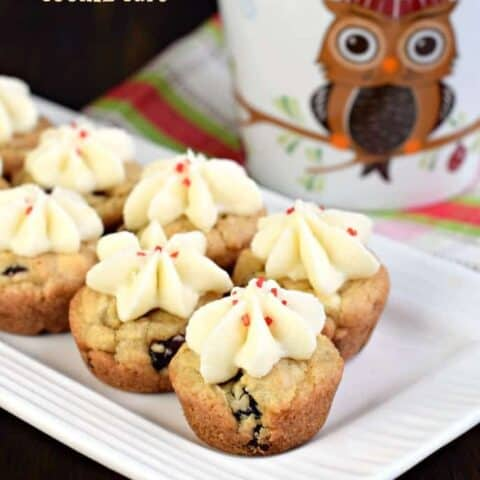 White Chocolate Cranberry Cookie Cups