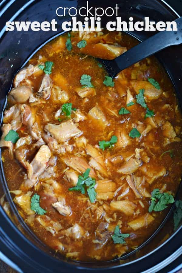 This Slow Cooker Sweet Chili Chicken has a sweet and tangy flavor that your family will love! Dust off your crockpot and get cooking!