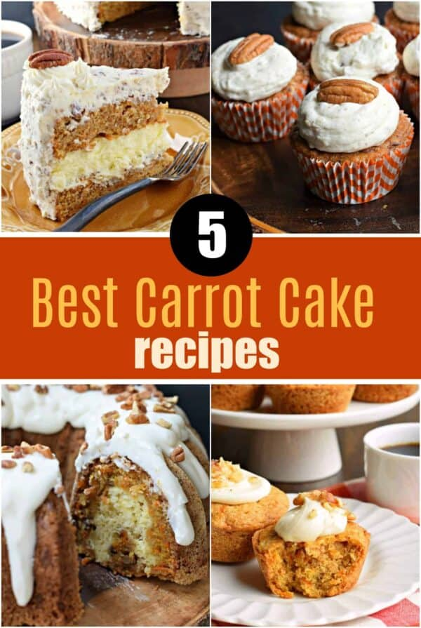 5 Best Carrot Cake Recipes- from cakes, to muffins, to cupcakes, which is YOUR favorite?