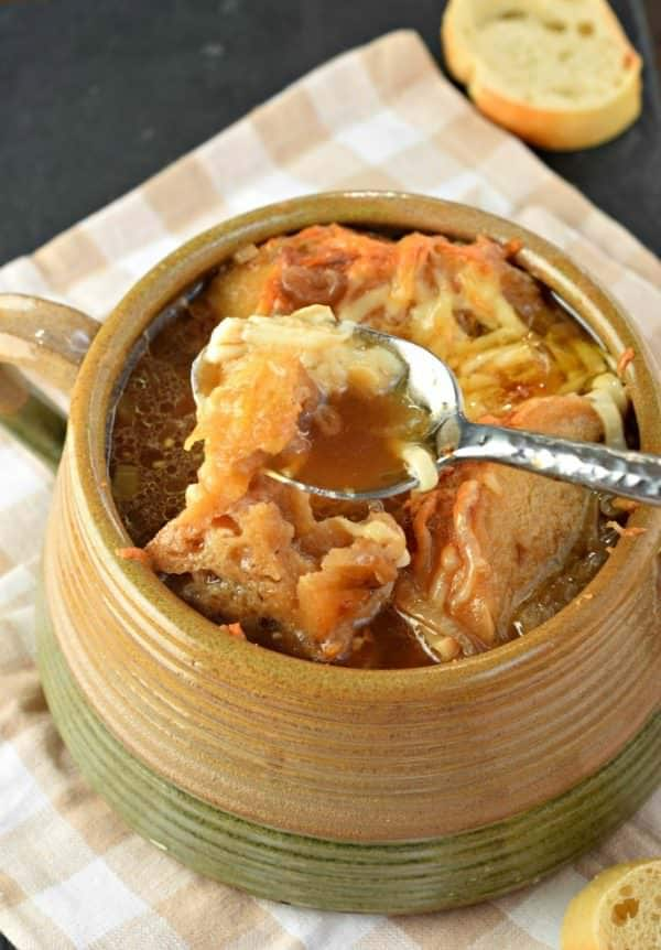 This flavorful, hearty French Onion Soup is a pure bowl of comfort for any night of the week. Perfect for family and friends!