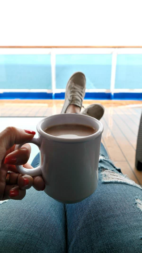 Enjoy a cup of coffee and views of the Baltic Sea!